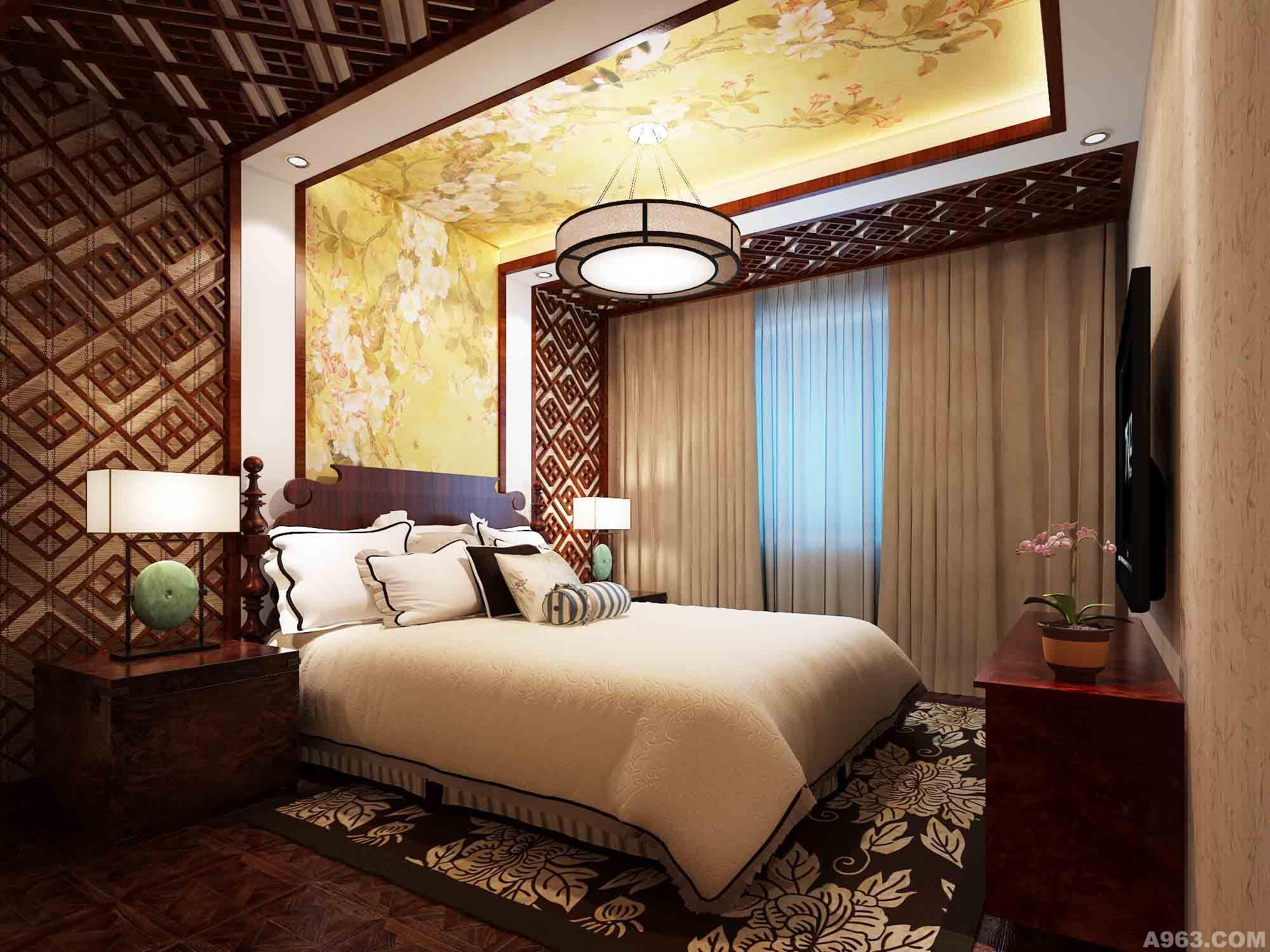 葛洲坝国际广场(中式) - 家装设计 - 武汉室内设计网