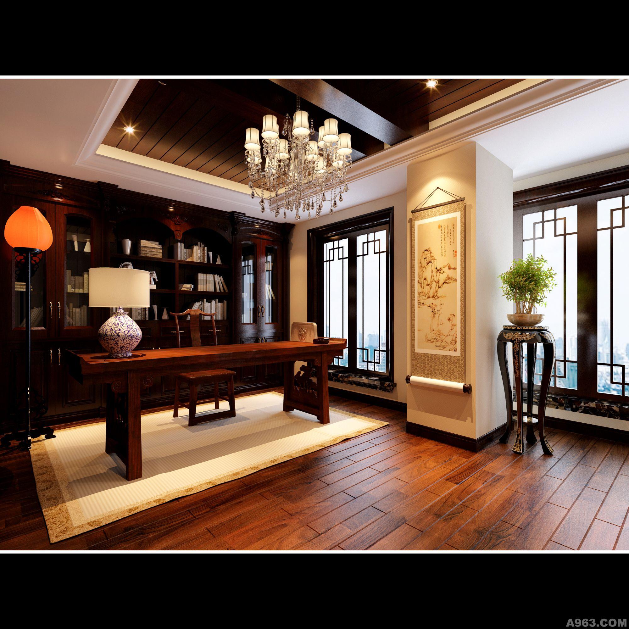 中式情怀 - 别墅豪宅 - 武汉室内设计网_武汉室内设计